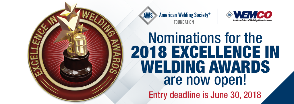 Excellence In Welding Awards Awards About American Welding Society