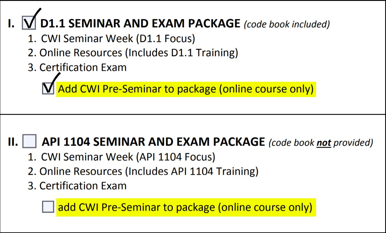 The Hopefuls Cwi Exam First Timers And The Updated Pre Seminar