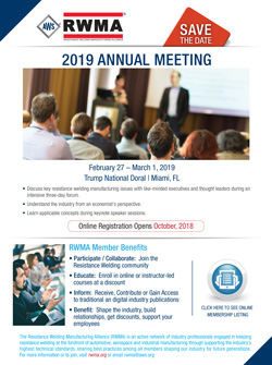 Save the Date - 2019 Annual Meeting