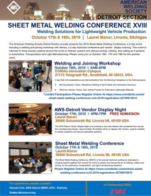 Sheet Metal Welding Conference XVIII