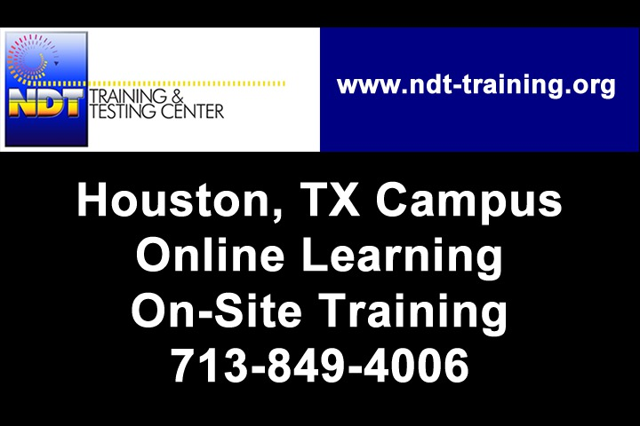 NDT Training for Welders and CWIs: NDT Training Center offers Classroom and Online NDT Training for Welders and CWI's. We have over 33 years of experience in training NDT personnel.